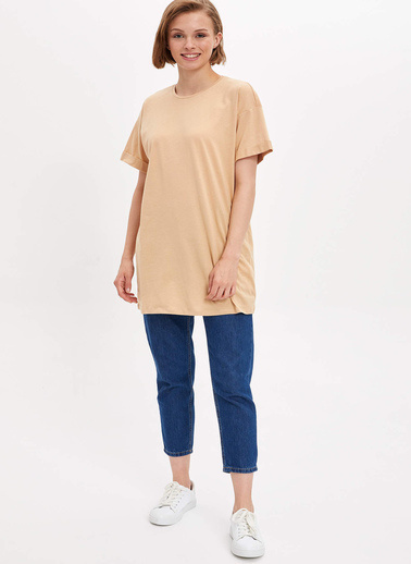 DeFacto Uzun T-shirt Bej
